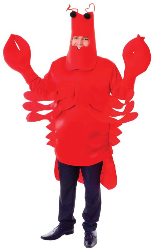 Adults Lobster Costume Sea Animal Sebastian Crab Creature Fancy Dress Outfit
